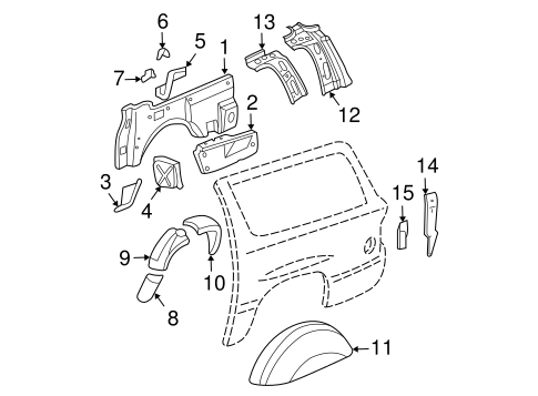 INNER COMPONENTS for 2001 GMC Yukon XL 1500