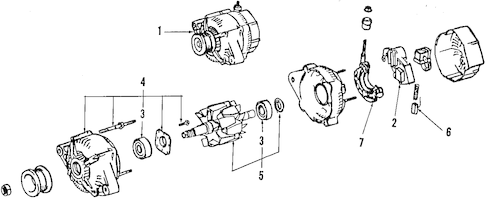 Genuine OEM ALTERNATOR Parts for 2003 Toyota Tundra SR5