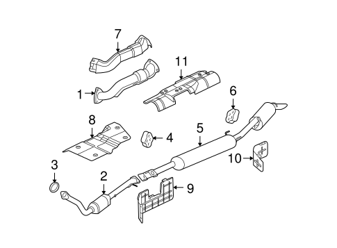 EXHAUST COMPONENTS Parts for 2005 Chevrolet Uplander