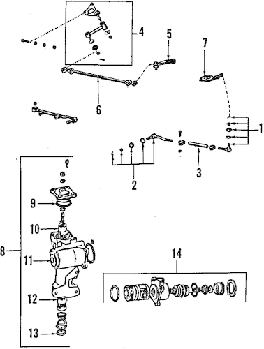 Genuine OEM STEERING GEAR & LINKAGE Parts for 1994 Toyota