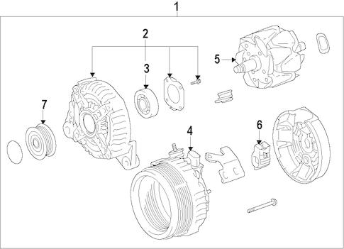 Genuine OEM ALTERNATOR Parts for 2005 Toyota Camry SE