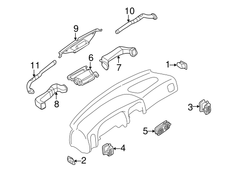 DUCTS for 2001 Nissan Frontier