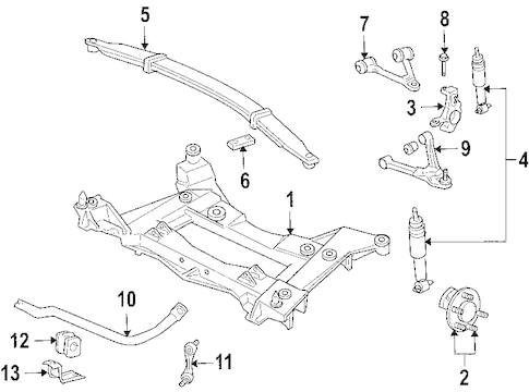 SUSPENSION COMPONENTS for 2005 Cadillac XLR