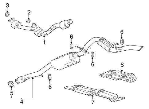 EXHAUST COMPONENTS for 2015 Chevrolet Silverado 1500