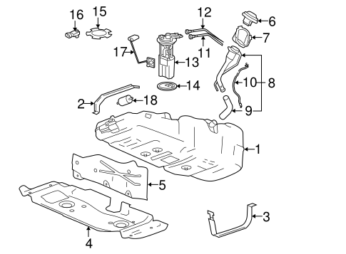 FUEL SYSTEM COMPONENTS for 2009 GMC Canyon