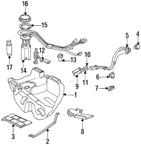 FUEL SYSTEM COMPONENTS for 1996 Cadillac DeVille (Concours)