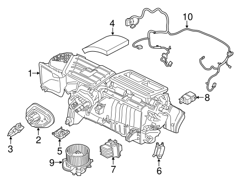 EVAPORATOR & HEATER COMPONENTS for 2016 Ford Mustang