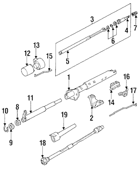 LOWER BEARING SNAP RING for 1991 Oldsmobile Bravada|7830376