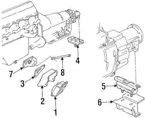 ENGINE & TRANS MOUNTING for 1994 GMC C1500 Pickup (Sierra SL)