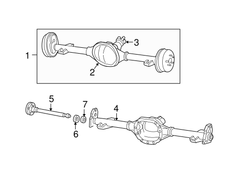 AXLE HOUSING for 2002 Chevrolet Blazer