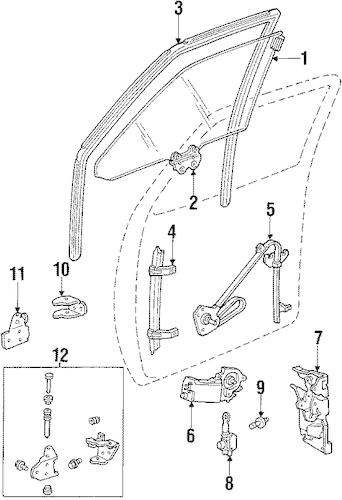 WINDOW REGULATOR for 1985 Chevrolet Caprice 20303591