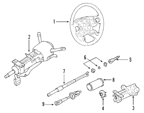 STEERING COLUMN for 2005 Chevrolet Corvette (Base)