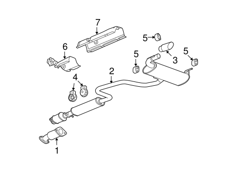 EXHAUST COMPONENTS for 2009 Chevrolet Malibu (LT)