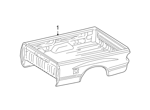 Genuine OEM BOX ASSEMBLY Parts for 2002 Toyota Tundra