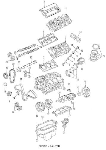 TIMING BELT for 1995 Oldsmobile Cutlass Supreme|24502982