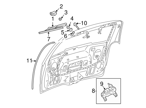 WIPER & WASHER COMPONENTS for 2003 Chevrolet Venture