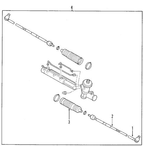 POWER STEERING PRESSURE HOSE for 2007 Mercury Mariner|6L8Z