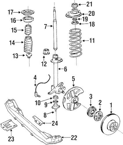 SUSPENSION COMPONENTS for 1993 Volvo 940