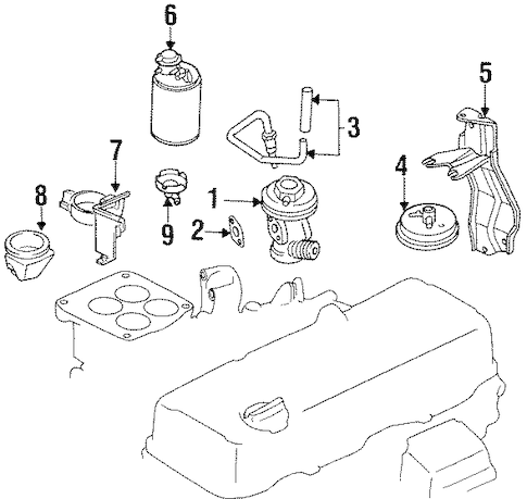 1997 Nissan pickup egr valve location
