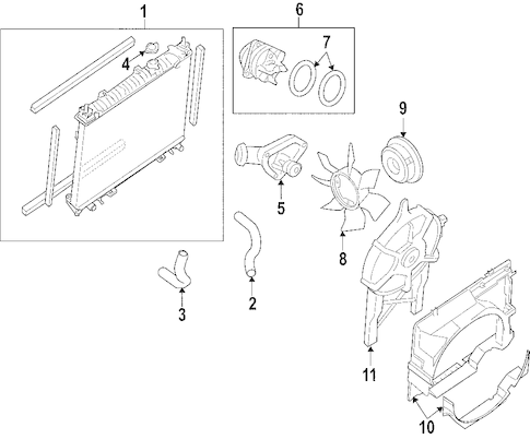 RADIATOR & COMPONENTS for 2006 Nissan Xterra