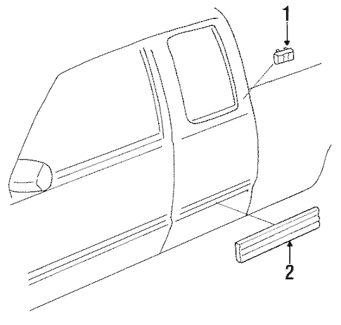 1999 Gmc Sierra Front Bumper Parts Diagram