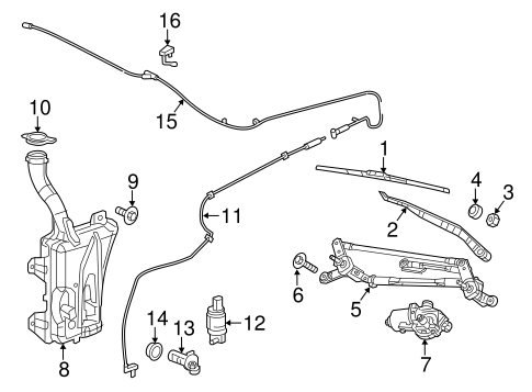WIPER & WASHER COMPONENTS for 2013 Dodge Dart