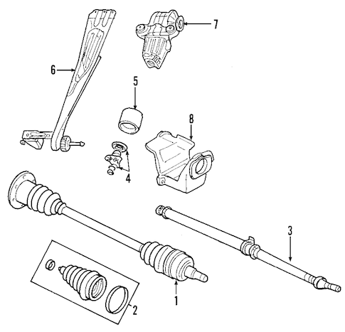 Service manual [1999 Chrysler Town Country Steering Shaft