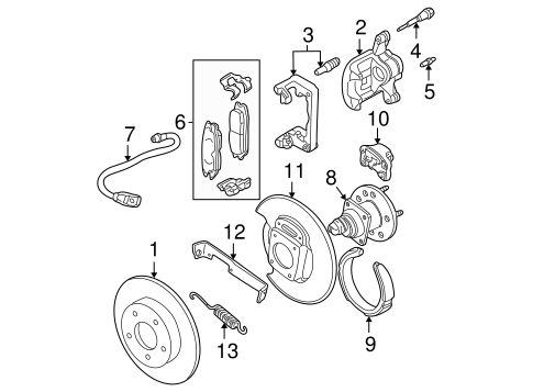 OEM BRAKE COMPONENTS for 2003 Oldsmobile Alero