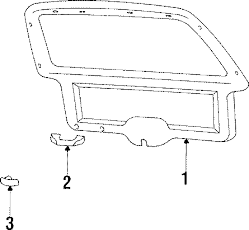 INTERIOR TRIM for 2000 Jeep Cherokee