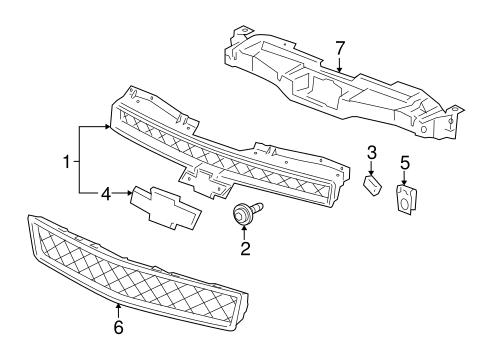 GRILLE & COMPONENTS for 2009 Chevrolet Tahoe (Hybrid)