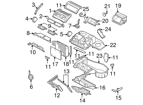 EVAPORATOR & HEATER COMPONENTS for 2004 Chevrolet Impala (SS)
