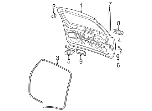 1999 Jeep Cherokee Liftgate Parts Diagram