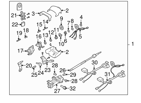 Service manual [Steering Column Removal 2004 Buick Rainier