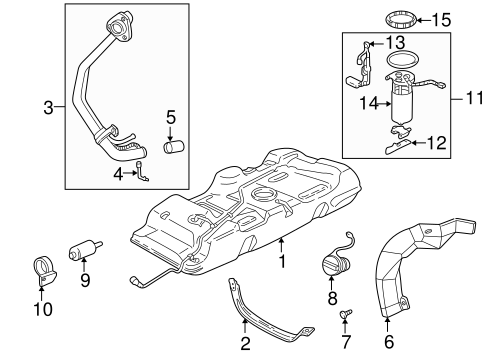 FUEL SYSTEM COMPONENTS for 2002 Pontiac Montana