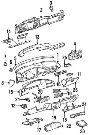 INSTRUMENT PANEL for 1996 Buick Skylark (Custom)