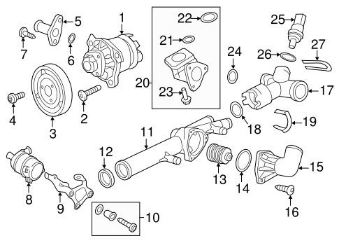 WATER PUMP WITH GASK for 2013 Porsche Cayenne|958-106-033-03