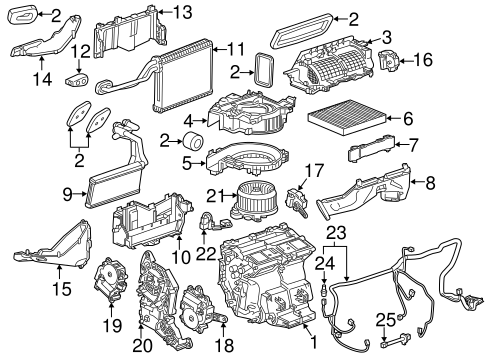 OEM EVAPORATOR & HEATER COMPONENTS for 2016 Cadillac CTS
