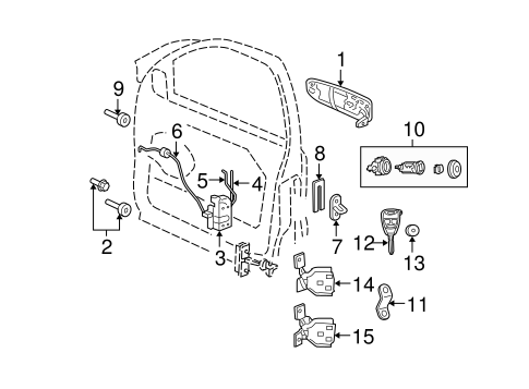 KEYLESS ENTRY COMPONENTS for 2010 Jeep Grand Cherokee