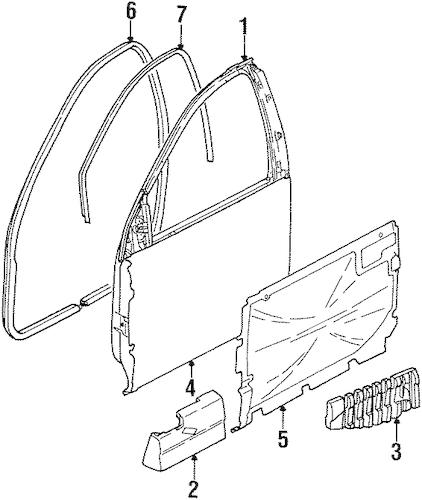 DOOR & COMPONENTS Parts for 2002 Saturn SC2