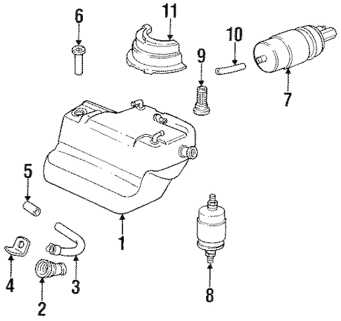 FUEL SYSTEM COMPONENTS for 1984 Porsche 911