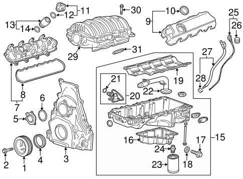 OIL LEVEL SENSOR for 2015 GMC Terrain|12639127