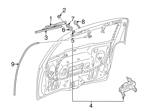 OEM WIPER & WASHER COMPONENTS for 2008 Chevrolet Uplander