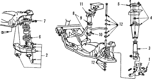 FRONT SUSPENSION for 1986 Ford Mustang