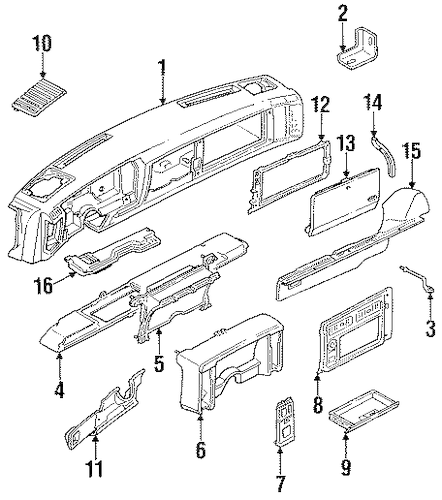 Service manual [1992 Gmc Sonoma Dashboard Light