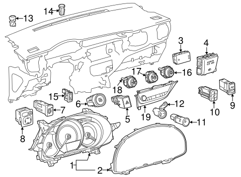 Genuine OEM HEADLAMP COMPONENTS Parts for 2015 Toyota