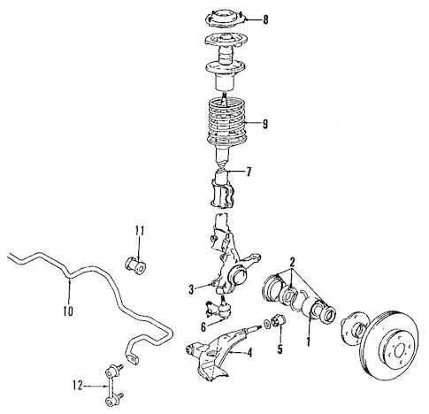 SUSPENSION COMPONENTS for 2001 Chevrolet Prizm