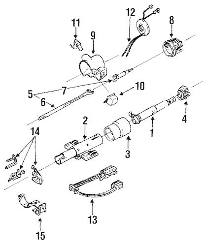 STEERING COLUMN & WHEEL for 1993 Oldsmobile 98