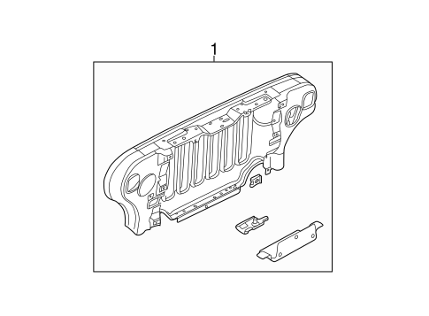 GRILLE & COMPONENTS for 1997 Jeep Wrangler