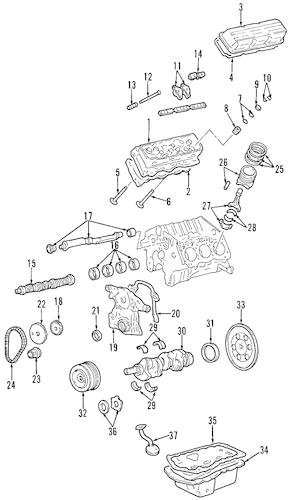 OIL PUMP Parts for 1998 Buick Park Avenue
