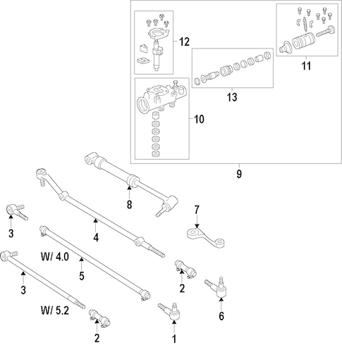 STEERING GEAR & LINKAGE for 1996 Jeep Grand Cherokee